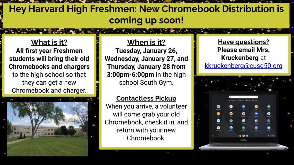 Freshman Chromebook Distribution
